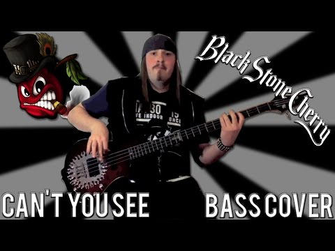Black Stone Cherry - Can't You See - Bass Cover by Seth Myers (W / On Screen Tab)
