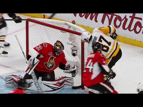 Crosby scores as Penguins even series against Senators