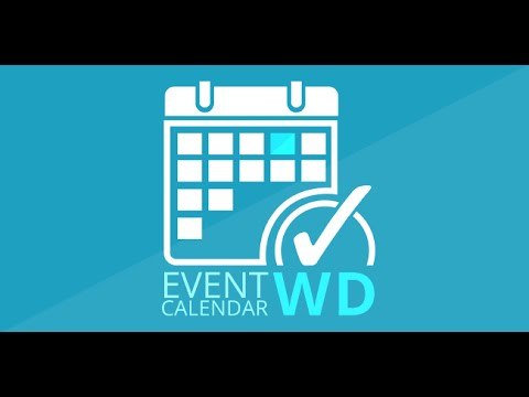 Event Calendar WD Full Tutorial