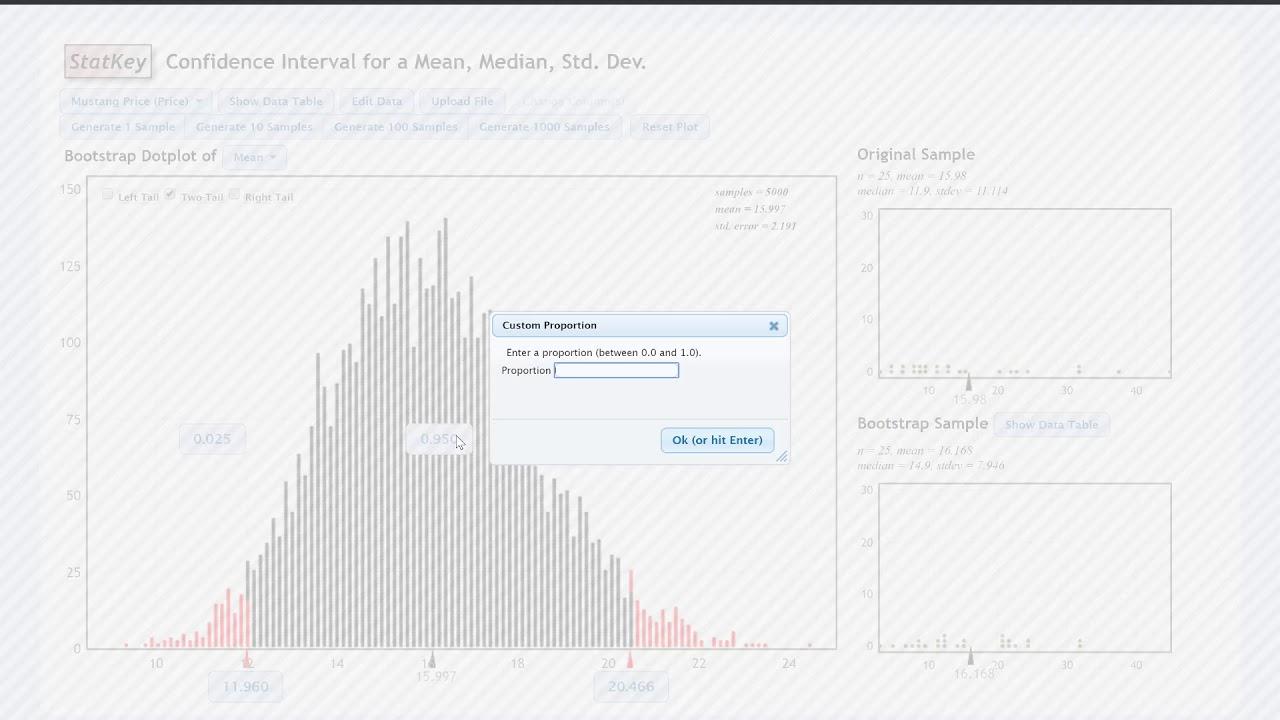 4 4 2 - StatKey: Percentile Method | STAT 200