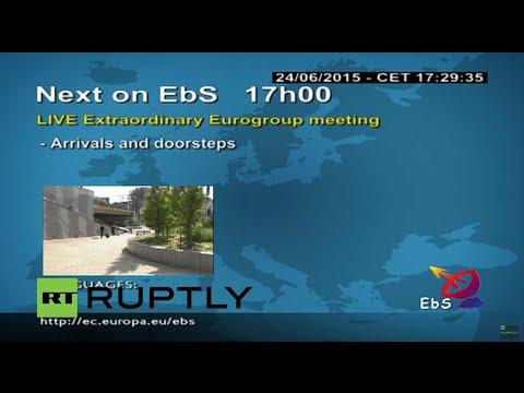 LIVE: Eurogroup reconvenes for Greece debt talks - Arrivals