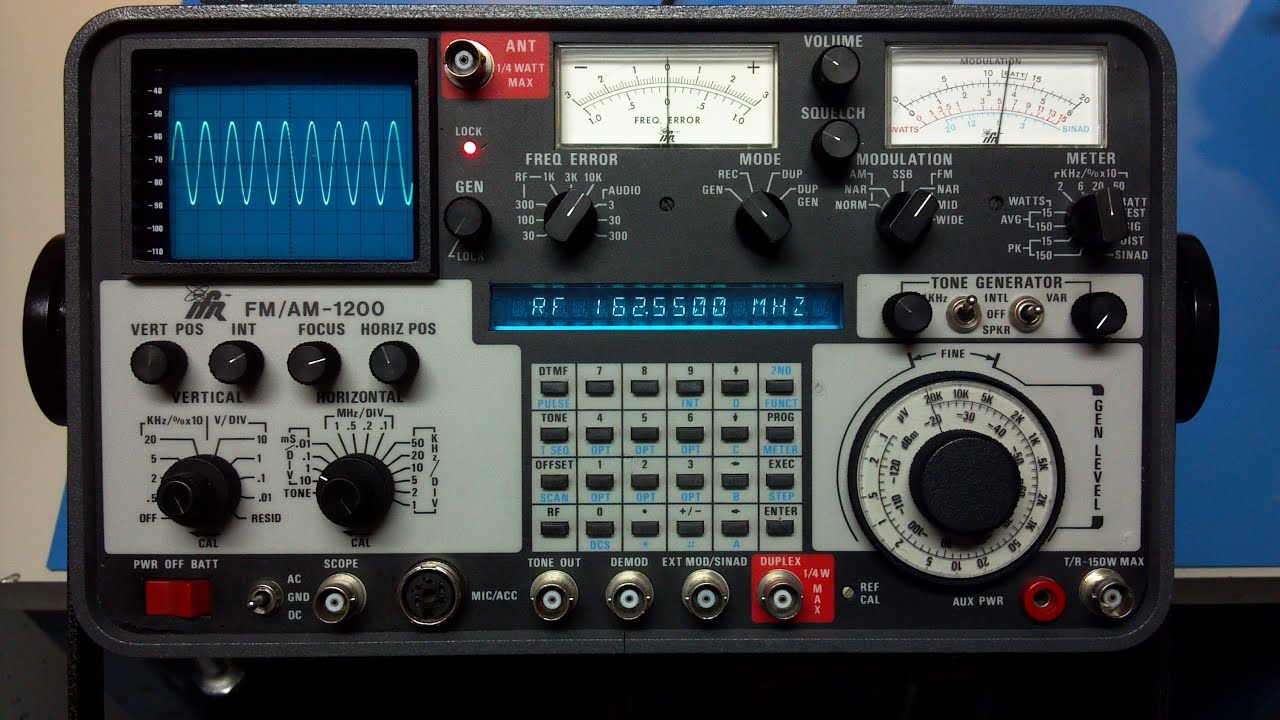 ifr 1200 demo modulation check youtube rh youtube com ifr 1200 super s service manual IFR Service Monitor Craigslist