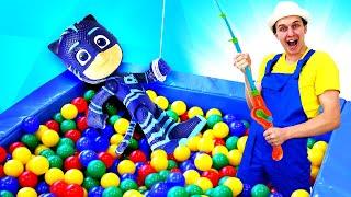 Веселая школа нарыбалке! —Бассейн сшариками, игрушечная удочка имультики для малышей