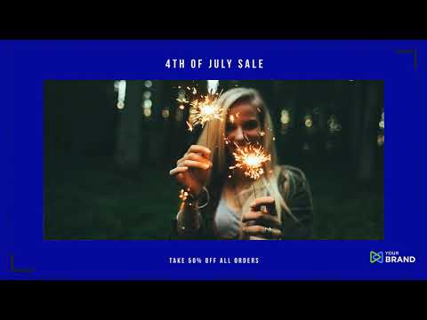 4th of July Sales Video Ad Template