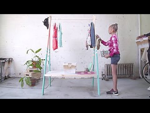 How to Build a Clothing Rack for a Kid's Room - DIY Network