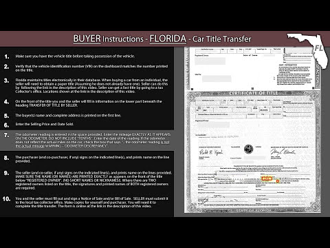 Florida Title Transfer BUYER Instructions