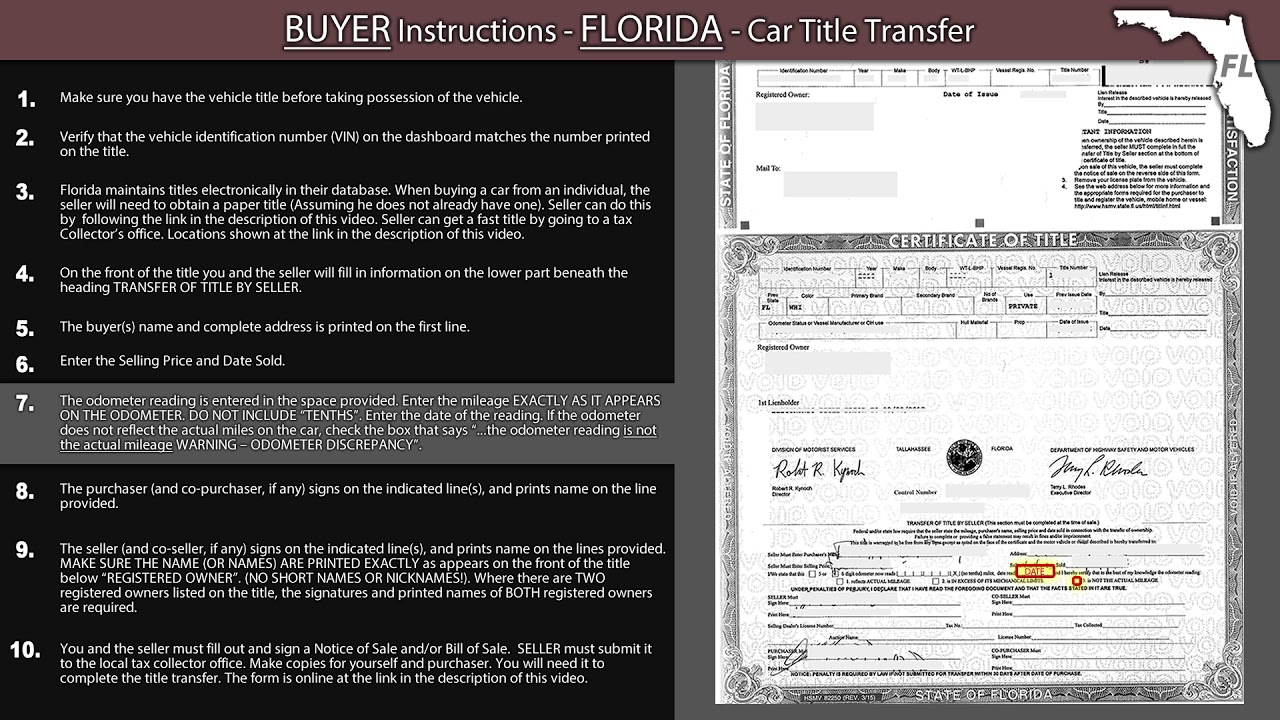 Can You Transfer A Car Title Online In Florida