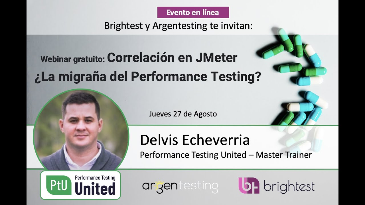 Correlation in JMeter, the Performance Testing Migraine? - PtU Webinar with Delvis Echeverria.