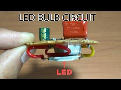How To Make A Circuit Of Led Bulb Make A Led Light Bulb Easily
