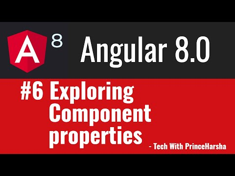6.Angular 8 Tutorials - Exploring properties of Component thumbnail