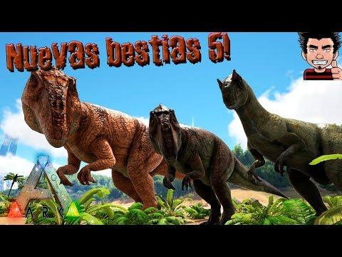 ARK SURVIVAL EVOLVED NUEVAS BESTIAS 5 JURASSIC PARK Allosaurus giganoto GAMEPLAY ESPAÑOL