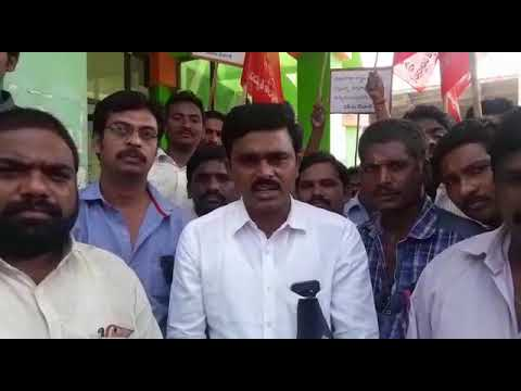 AP Electricity contract workers union chairman Sri kasi madhu speach
