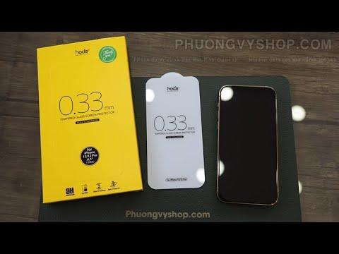 Kính cường lực - Kính cường lực Hoda 0.33mm iPhone 12 series - ít bám vân tay và dễ lau chùi