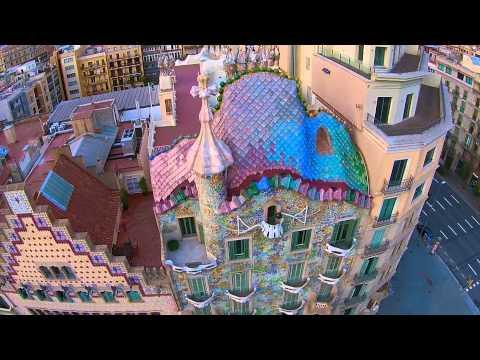 Casa Batlló, Antoni Gaudí, Barcelona - BCNDJI - DJI drone over Casa Batlló DJI Phantom 2 vision +
