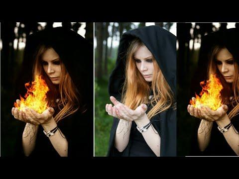 picsart editing toutrial //fire in hand //picsart manipulation photo editing