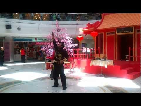 The Whipping & Juggling Acrobatic Show at SACC Mall (12 Feb 2013)
