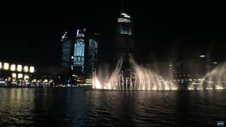 AMAZING Dubai Fountain Show at Dubai Mall | Elissa Aa Bali Habibi HD 2016!