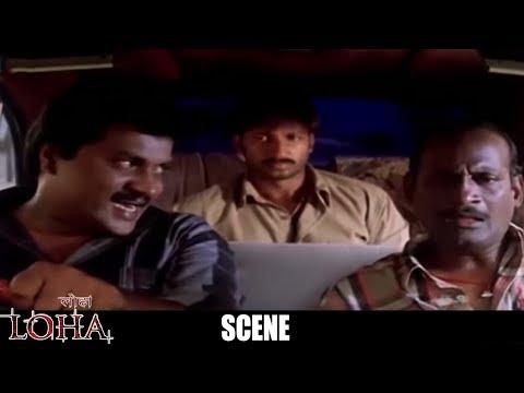 Loha The Iron Man Hindi Dubbed Movie Scenes - Comedy Scene Between Sunil & Gopi Chand - Gowri Pandit