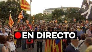 EN DIRECTO: Manifestación de ANC y Òmniun en Barcelona