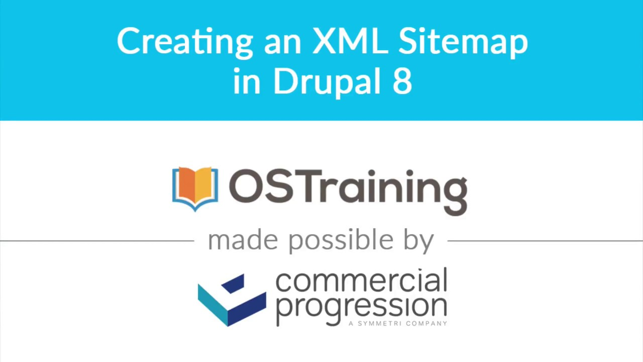 lesson 7 creating an xml sitemap in drupal 8 youtube