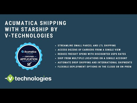 StarShip Shipping Software for Acumatica
