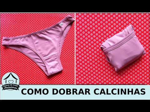 51a765e48 Como dobrar calcinhas - YouTube
