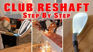 GOLF CLUB BUILD - H๐w to reshaft your irons Step by Step