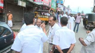 Joice George MP's Bad Reaction against Youth Congress workers,Idukki