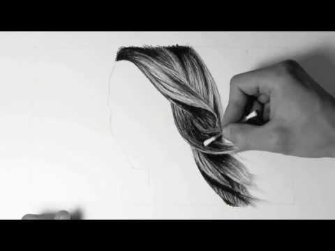Wie zeichne ich Haare / how to draw hair - HD Video mit Audiokommentar (german)