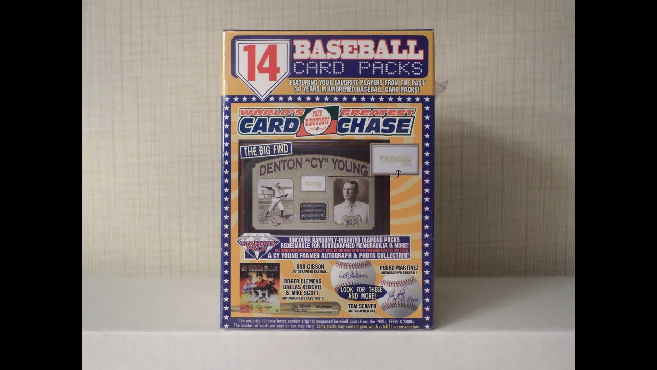 Worlds Greatest Card Chase Unboxing 14 Unopened Baseball Card Packs