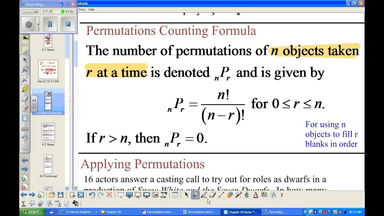9 1 Precalculus Notes Video Kaufman