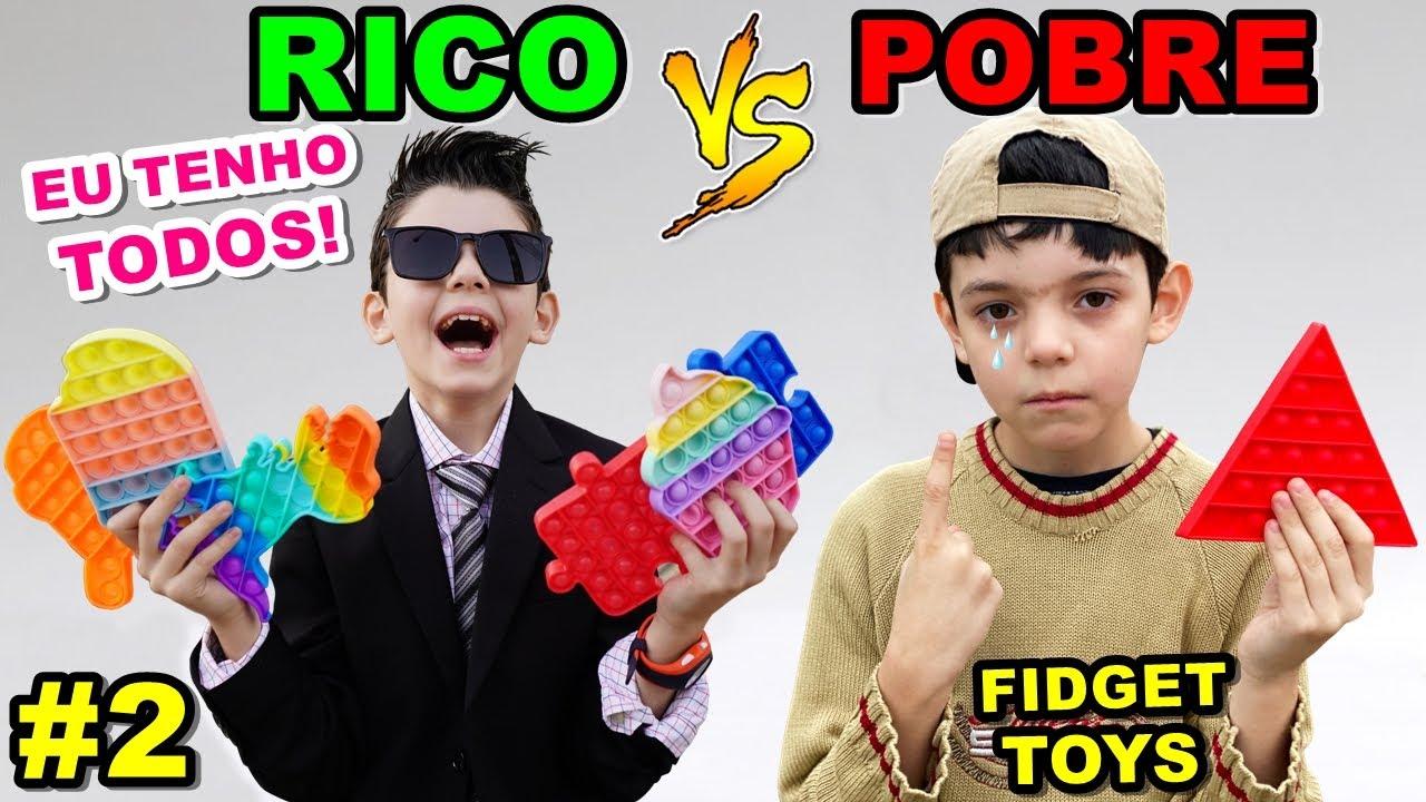 RICO VS POBRE - FIDGET TOYS POP IT #2