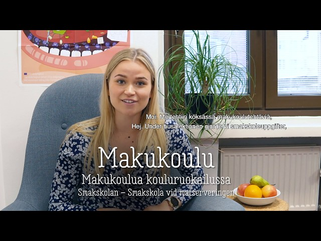 Thumbnail of video called Makukoulu: makukoulua kouluruokailussa