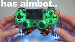 I used an AIMBOT controller in ARENA Fortnite..