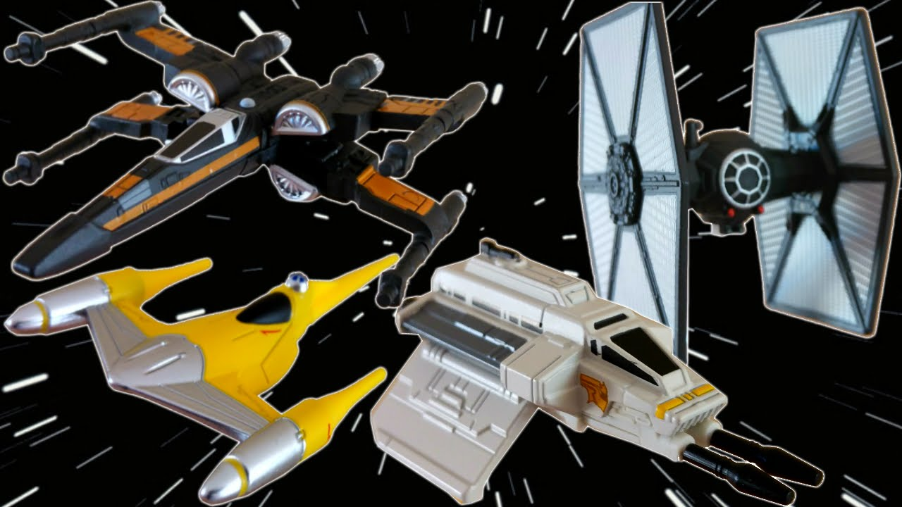 Star Wars The Force Awakens Starships Tie Dueler Poes X Wing Naboo