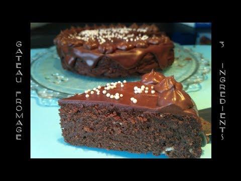 ❤-gâteau-3-ingrédients,-recette-fondante-fromage-chocolat