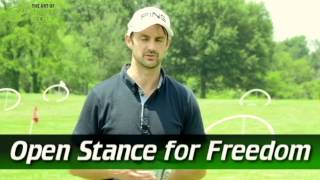 Instant Golf Swing Improvement | Improve Ball Striking Open Stance For Freedom