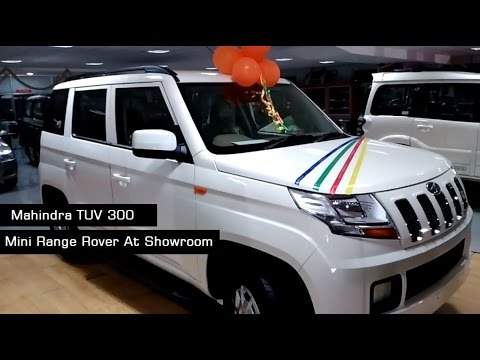 Mahindra TUV300 White color | Interiors and Exteriors At Showroom | 2017 India | More On Description