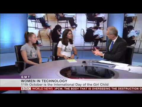 Belinda Parmar and Zea Tongeman on BBC World News talk about Little Miss Geek Tech Clubs
