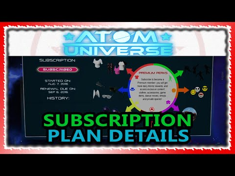 Atom Universe - (Optional) Subscription Plan Pricing