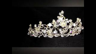 *1 корона золотая свадебная на конкурс диадема тиара весільна діадема золота для нареченої конкурсу