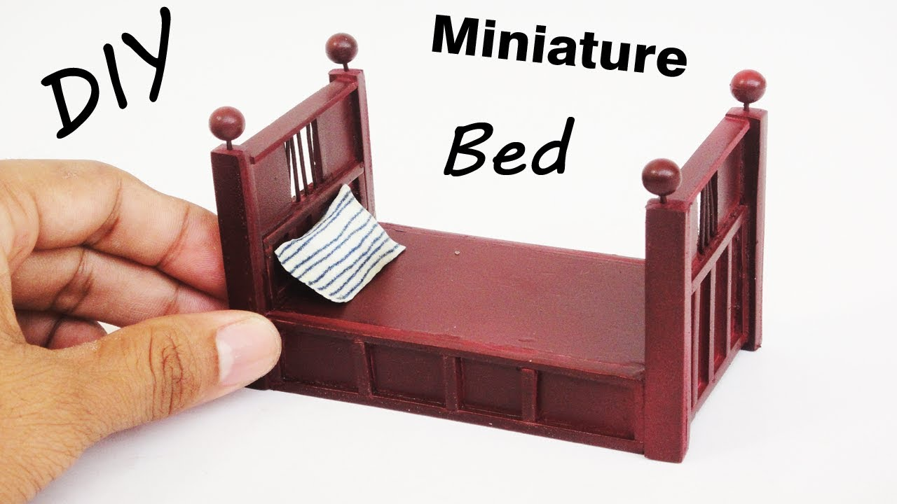 Simple Bed How To Make A Miniature Simple Bed Dollhouse Bed Crafts For Kids
