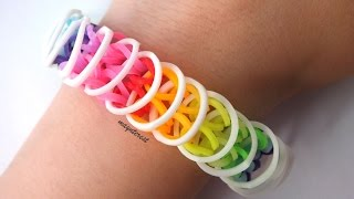 Repeat youtube video PULSERA de GOMITAS Loose loops (con tenedores) | BRACELET