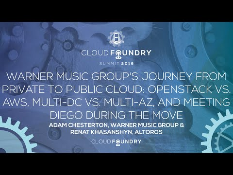 Warner Music Group's Journey from Private to Public Cloud - Adam Chesterton & Renat Khasanshyn