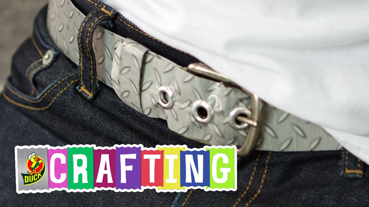 how to craft a duct tape belt youtube
