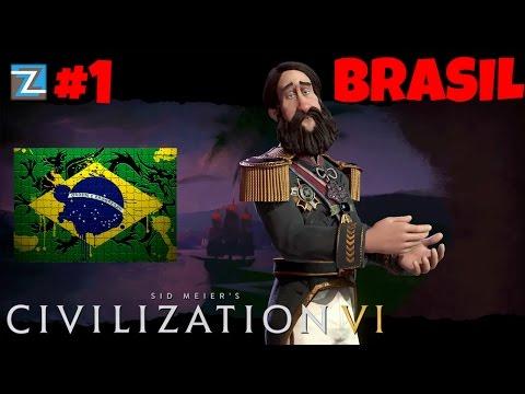 Civilization 6 - Império do Brasil [1] Introdução Vamos Jogar Gameplay Português PTBR Civ 6