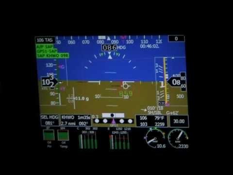 Grand Rapids Sport S200 EFIS Landing HITS