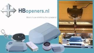 HBJR Elektrische Garagedeuropener - www.hbopeners.nl