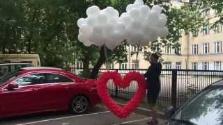 Запуск сердца. Светящиеся шары. Свадьба.