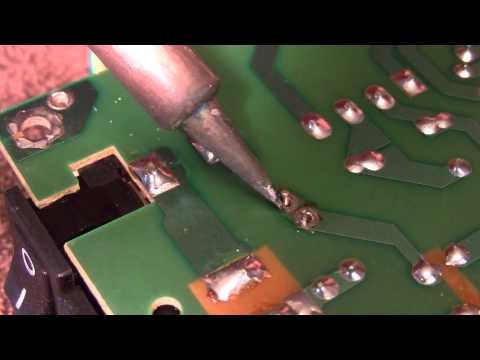 Removal of Solder Using Solder Wick